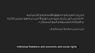 Liens indissociables entre les libertés individuelles et les droits économique et sociaux.