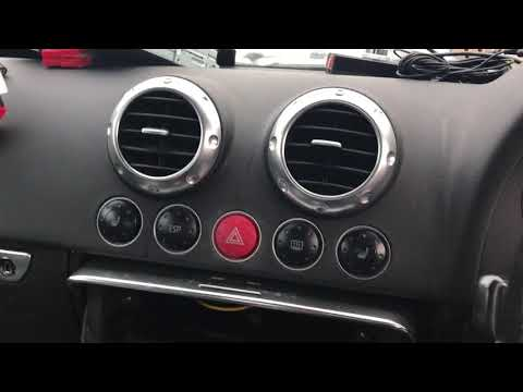 Audi TT hazard switch removal and replacement