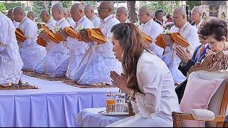 สมเด็จพระเจ้าน้องนางเธอฯ ทรงเป็นประธานการบรรพชาอุปสมบทถวายเป็นพระราชกุศล วัดไทยพุทธคยา ประเทศอินเดีย