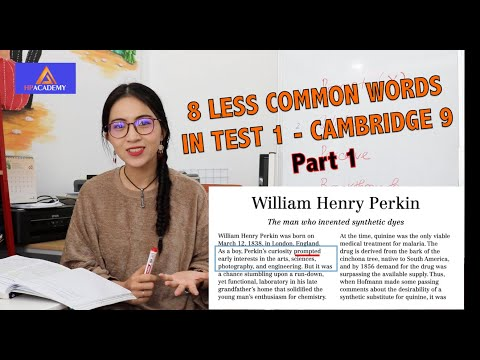[CHIẾN CÙNG HP] VOL.01: 8 LESS COMMON WORDS IN TEST 1 - CAMBRIDGE 9 (PART 1)