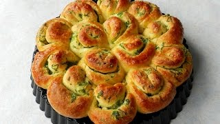How To Make GARLIC FLOWER BREAD No Knead Bread  TBEO Video #86