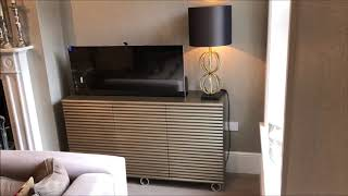 Rib fronted TV lift cabinet