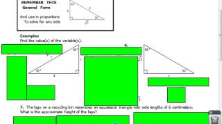 Unit 7 Day 4 Special Right Triangles