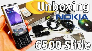 Nokia 6500 Slide Silver Unboxing 4K with all original accessories RM-240 review