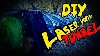 How To Build A Haunted Laser Vortex Tunnel – DIY, Homemade Halloween Decorations & Props