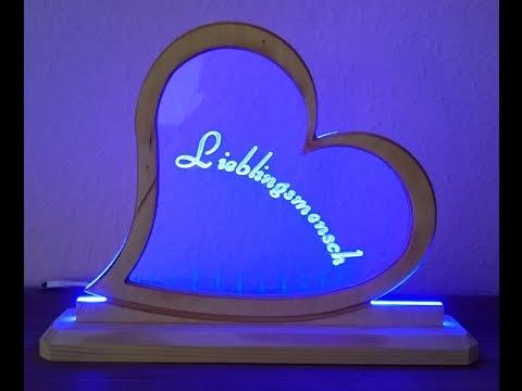 LED Aufsteller, Leuchtschild, Plexiglas gravieren, CNC