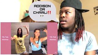 CHARLI D'AMELIO vs ADDISON RAE tik tok Compilation ( June 2020 ) | REACTION 🔥