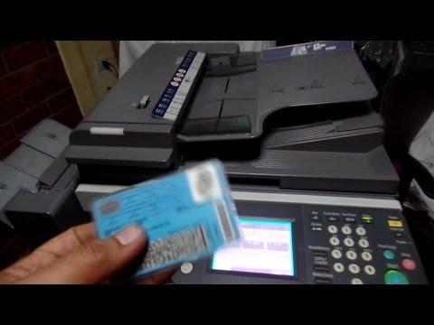 Como Sacar Copia de DNI  en Fotocopiadora Konica Minolta bizhub 350/250/200
