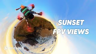 Beautiful Sunset FPV Flight in Portugal — Insta360
