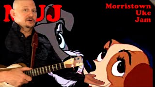 """MUJ: Bella Notte - from Disney's """"Lady And The Tramp"""" (ukulele tutorial)"""