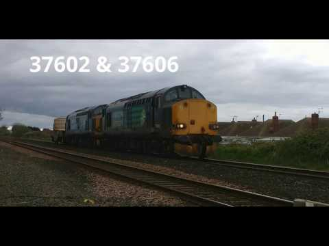 DRS 37602 & 37606 pass Prestatyn with nuclear flasks 13th Ap…