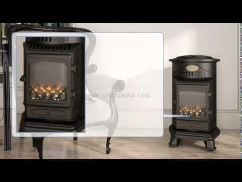 Estufa portátil a gas Provence Rojo Fireside 3 kW