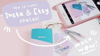 How to Take and Edit Instagram & Etsy Product Photography