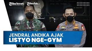 Jenderal Andika Ajak Kapolri Listyo Sigit Gym Bareng saat Berkunjung ke Mabes TNI AD