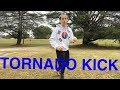 HOW TO DO A TORNADO KICK EASY AND FAST - (taekwondo round house and karate crescent kick) video download