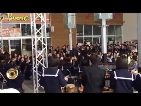 2014.04.12 イオンタウン姫路にて。山陽中学校吹奏楽部 アンコール曲。