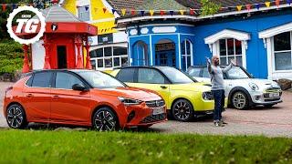 [Top Gear] HONDA E vs CORSA-E vs MINI ELECTRIC: Racing EVs around empty Alton Towers