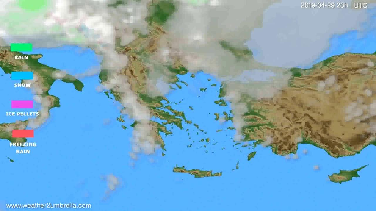Precipitation forecast Greece // modelrun: 12h UTC 2019-04-26