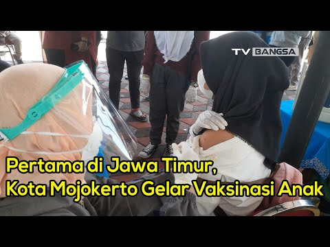 Pertama di Jawa Timur, Kota Mojokerto Gelar Vaksinasi Anak