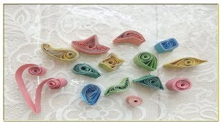Paper Quilling Shapes|Art&Craft Tutorials|Life Hack - Video Youtube
