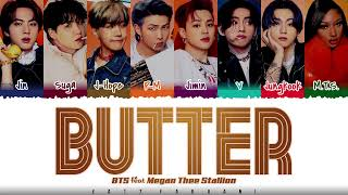 BTS (방탄소년단) - 'Butter' (feat. Megan Thee Stallion) Lyrics [Color Coded_Eng]