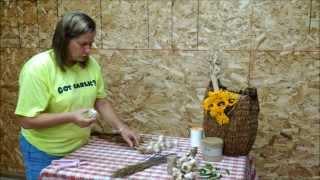 How To Tie / Braid Hardneck Garlic.