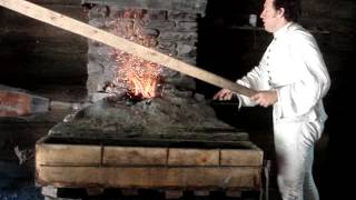 preview picture of video 'Blacksmith Demonstration @ New Windsor Cantonment'
