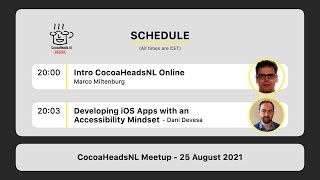 CocoaHeadsNL Online Meetup, 25 August 2021