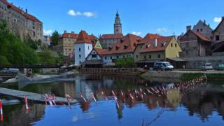preview picture of video 'Hyperlapse - Along the Vltava, to Cesky Krumlov Castle'