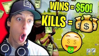 YOU GUYS MAKING $$$ IN FORNTITE BATTLE ROYALE!!! (Fortnite Stream Snipe Challenge)