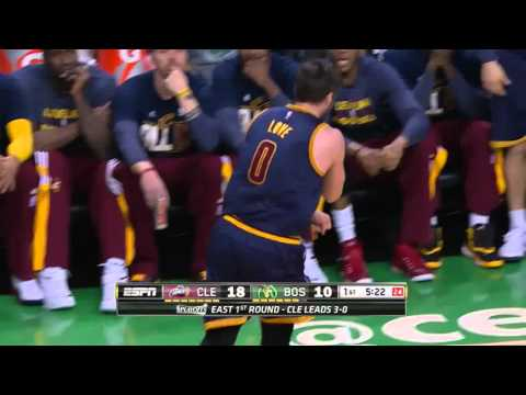 NBA, Playoff 2015, Cavaliers Vs. Celtics, Round 1, Game 4, Move 11, Kevin Love, Injury