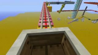 柑月的minecraft實況『雲霄飛車和活塞電梯』-這電梯悲劇!