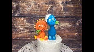 Динозаврики из мастики / /how to make a dinosaur on cake topper