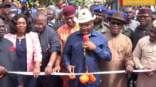 VIDEO: GOV. UDOM COMMISSIONS ROADS ALONG WELLINGTON BASSEY