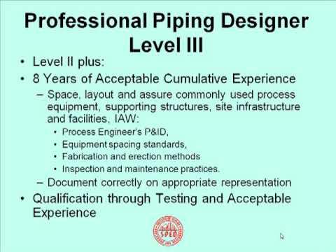 Piping Designer Certification Pt2 - YouTube