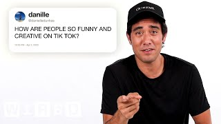 Zach King Answers TikTok Questions From Twitter | Tech Support | WIRED