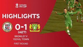 Last-Minute Volley Sends Yeovil Through! | Bromley 0-1 Yeovil Town (AET) | Emirates FA Cup 2020-21