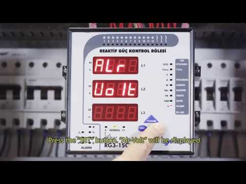 RG3-15 CLS Power Factor Controller Inductive Ratio Alarm Setting