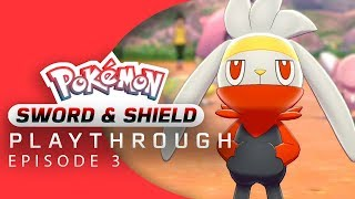 Raboot  - (Pokémon) - Pokemon Sword and Shield Playthrough Part 3 - RABOOT HAS POCKETS