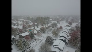 Drone Video of Iowa Snow Squall October 2020