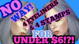 OMG!! 4 EYELINERS & 4 STAMPS for UNDER $6!!??! THAT & MORE in BORGIA BEAUTY REVIEW