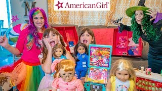 Princess Lollipop Gives Kate and Lilly American Girl Doll Gift Trunks!