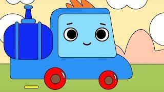 Мультфильм про машинки -  Грузовичок Пик - Раскраска -Сердитый ежик -  учим цвета