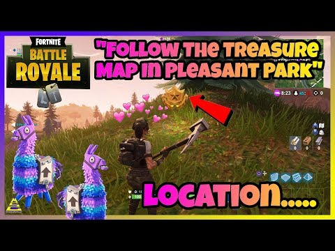 "Fortnite ""Follow The Treasure Map In Pleasant Park"" - LOCATION PS4/XboxOne/PC/Nintendo Switch"