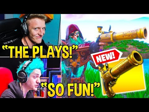 """, title : 'STREAMERS *GO CRAZY* USING *NEW* """"FLINT-KNOCK PISTOL!"""" (VERY USEFUL) - Fortnite Moments'"""