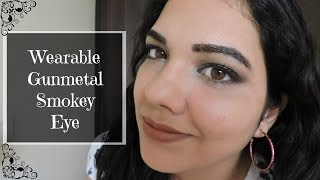 Image for video on Wearable Gray Gunmetal Smokey Eye Tutorial | beautywithsneha by beautywithsneha