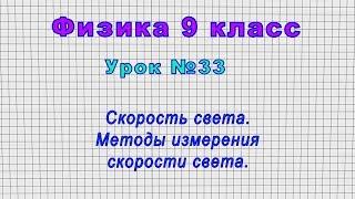 Физика 9 класс Урок 33 - Скорость света. Методы измерения скорости света.