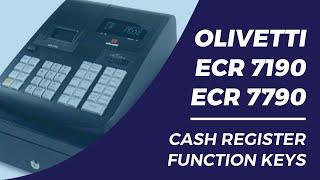 Olivetti ECR7190 7790 Cash Register function keys