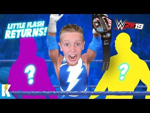 Little Flash Returns! Open Challenge in WWE 2k19 Career Mode Part 7! KIDCITY GAMING