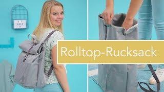 #RolltopRonja nähen – robuster Rolltop-Rucksack mit Reißverschluss